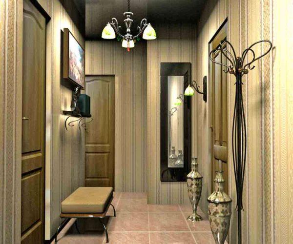 подвесная люстра в коридоре