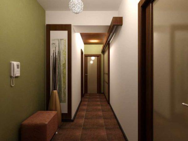 оливковые стены в коридоре в квартире
