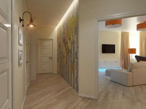 фотообои на стене коридора в квартире