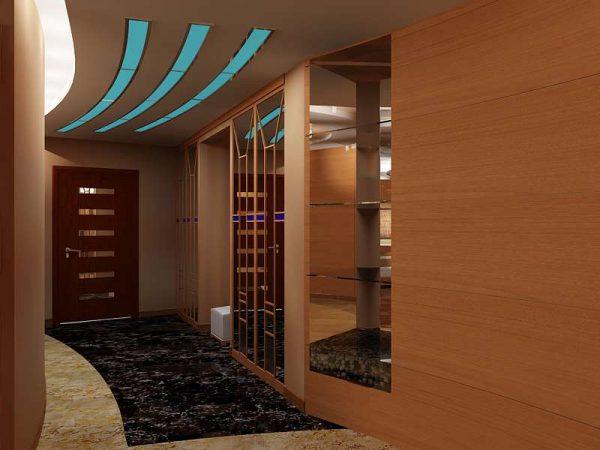 встроенное освещение коридора в квартире