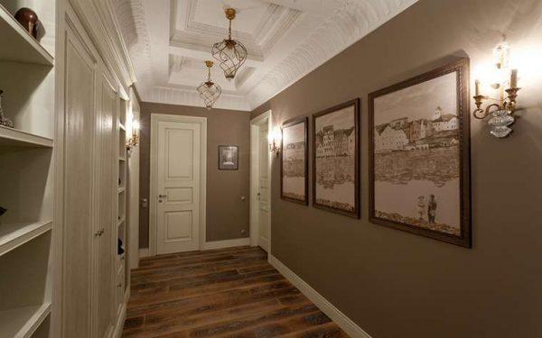 лепнина на потолке коридора в квартире