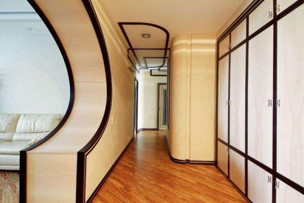 декоративная арка в коридоре в квартире