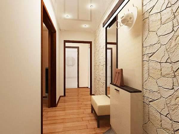 натяжной потолок в коридоре в квартире