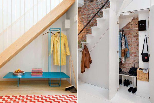 дизайн коридора в квартире с лестницей