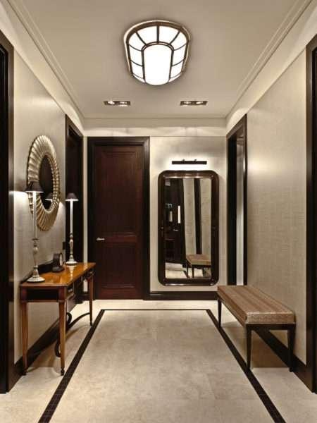 мраморный пол в коридоре в классическом стиле