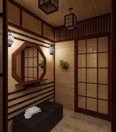 декор в прихожей в японском стиле