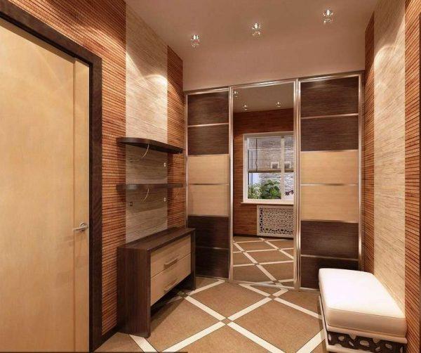 раздвижные двери в прихожей в японском стиле