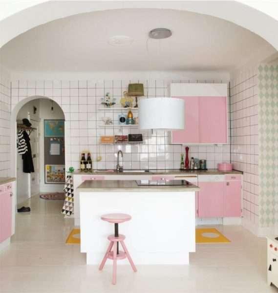 арка полуэлипс из гипсокартона на кухню