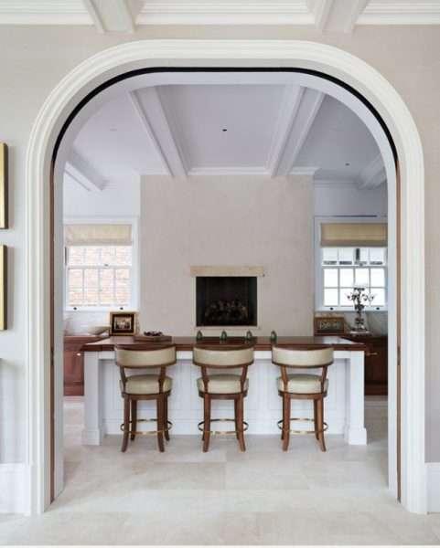 арка из гипсокартона на кухне в стиле модерн