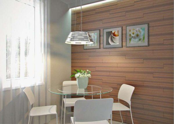 панели мдф на стене в интерьере кухни