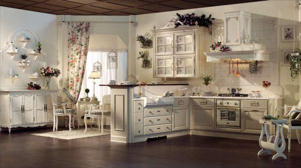 светлый интерьер кухни в стиле прованс