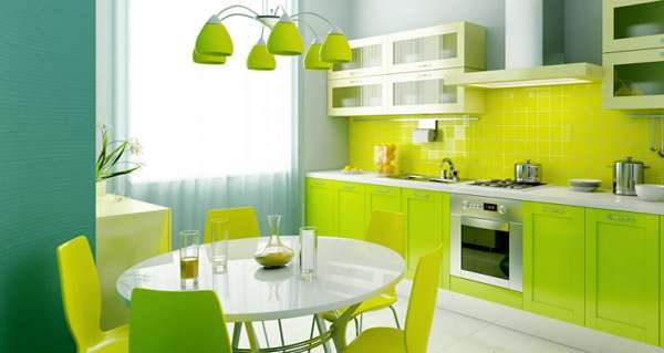 стекляннй фартук в интерьере кухни