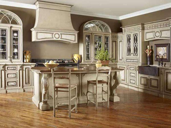 натуральные материалы на кухне в итальянском стиле