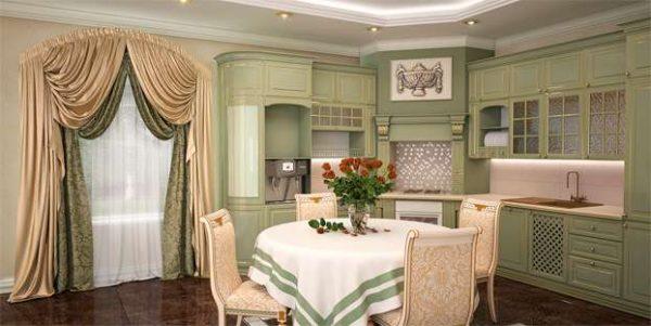 шторы на кухне в итальянском стиле