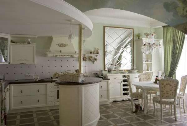 барная стойка в интерьер кухни в итальянском стиле