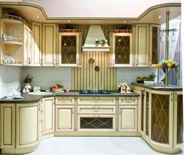 П-образная кухня в итальянском стиле