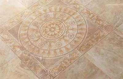 напольная плитка на кухню под камень