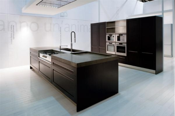 кухня хай тек без навестных шкафов