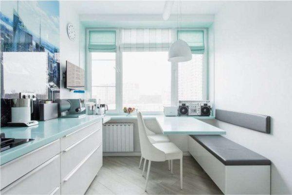 кухня в стиле минимализм без навесных шкафов