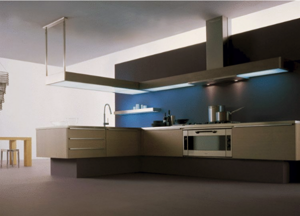 стильная кухня без верхних шкафов