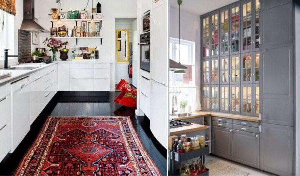 шкафы-колоны на кухне без верхних шкафов