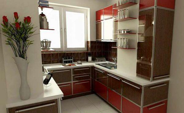 Кухня на балконе совмещённой