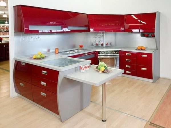 дизайн С-образной кухни
