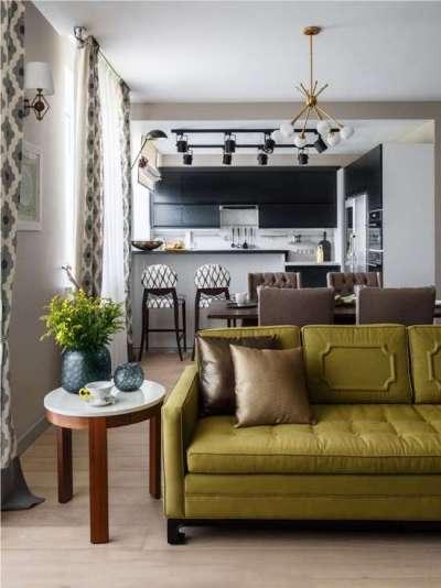 кухня-гостиная со стильным декором