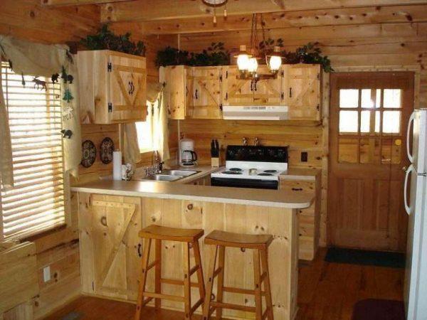 деревянная кухня для частного дома