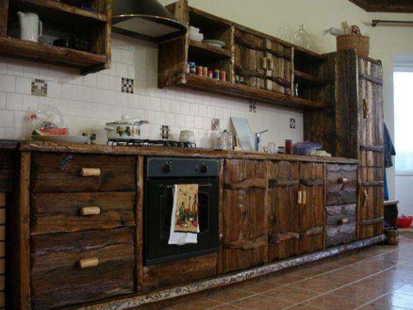 кухня из деревянного массива своими руками