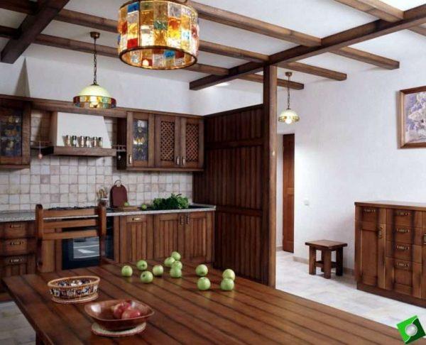 кухонный гарнитур из тёмного дерева своими руками
