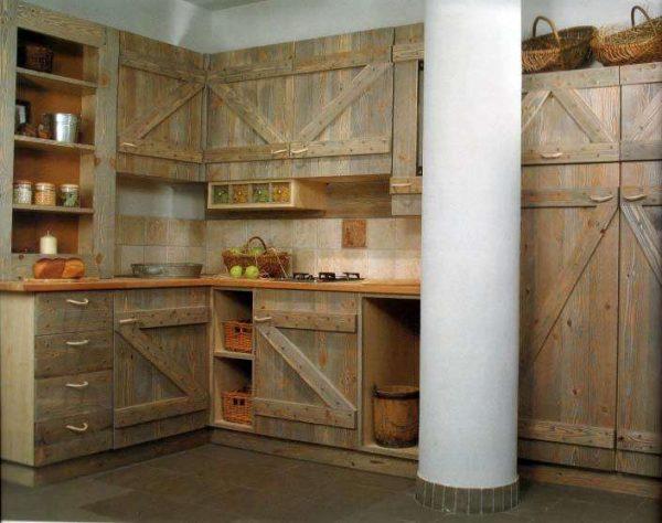 угловая кухня своими руками из дерева