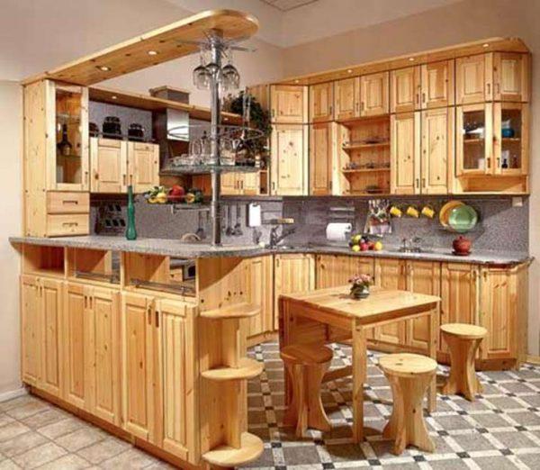 П-образная кухня из дерева своими руками