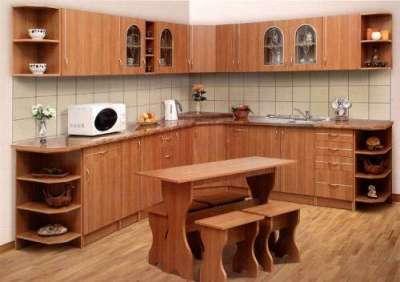деревянная кухня в сборе