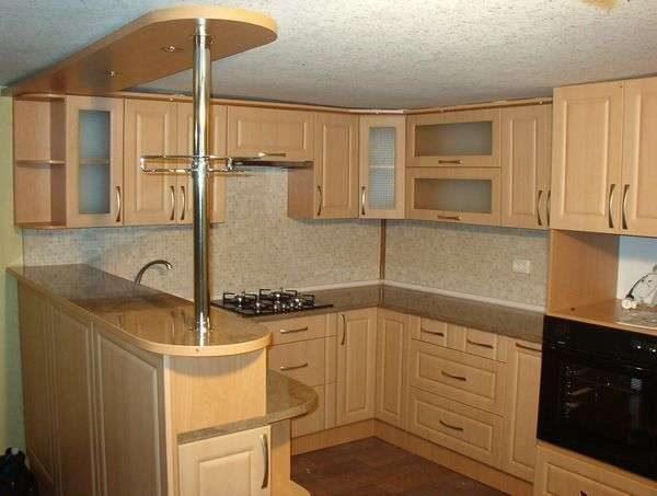стильный современный дизайн кухни из дерева своими руками
