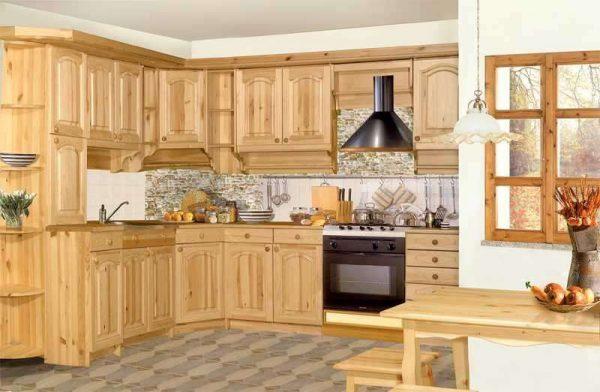 светлый кухонный гарнитур из дерева своими руками