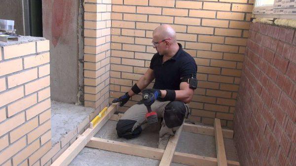 ремонтные работы на балконе