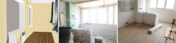 ремонт полов для кухни на балконе или лоджии