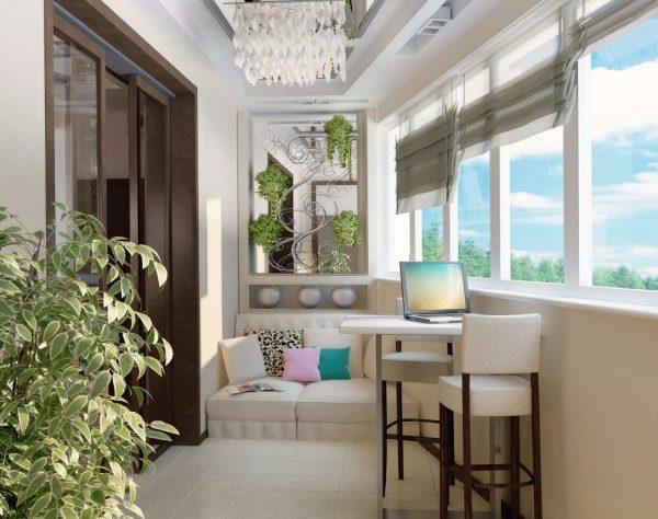 полы на кухне на балконе или лоджии