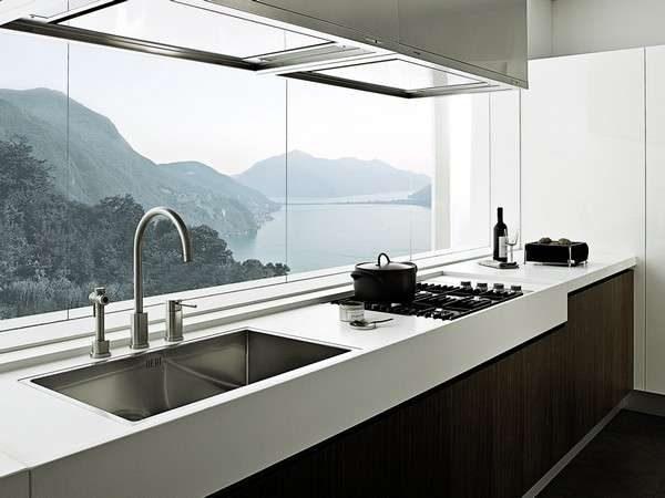 стильная кухня на балконе или лоджии