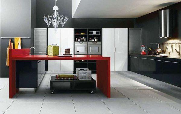 Современный дизайн кухонного гарнитура
