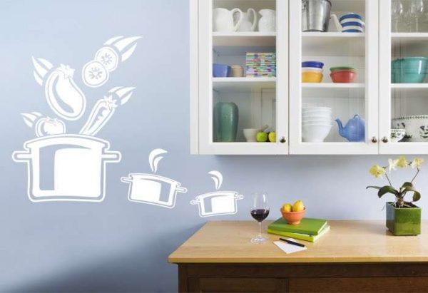 Современный декор для кухни на стену