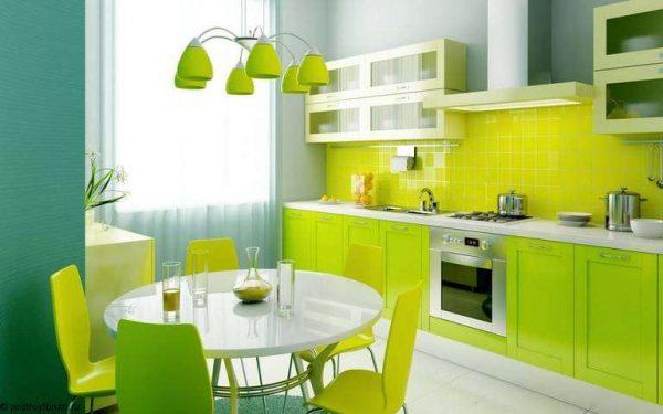 кислотный яркий цвет кухни