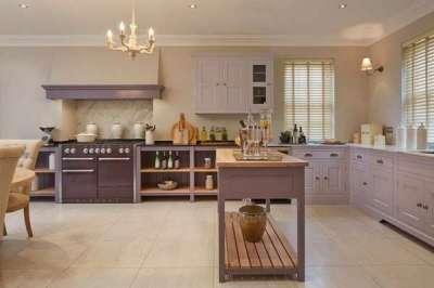оформление рабочей зоны на кухне в английском стиле