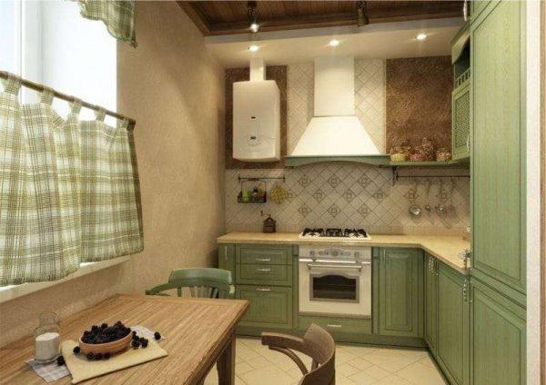 шторы кафе на кухне в английском стиле