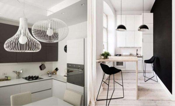 светильник на кухне в стиле минимализм