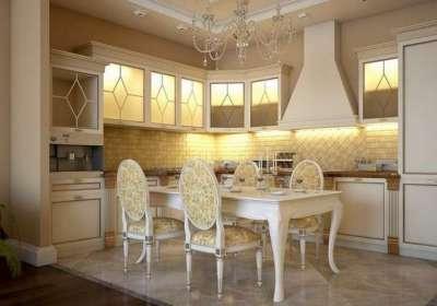 угловая кухня в стиле неоклассика