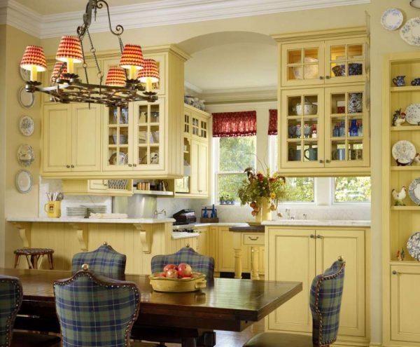 американский стиль кантри на кухне