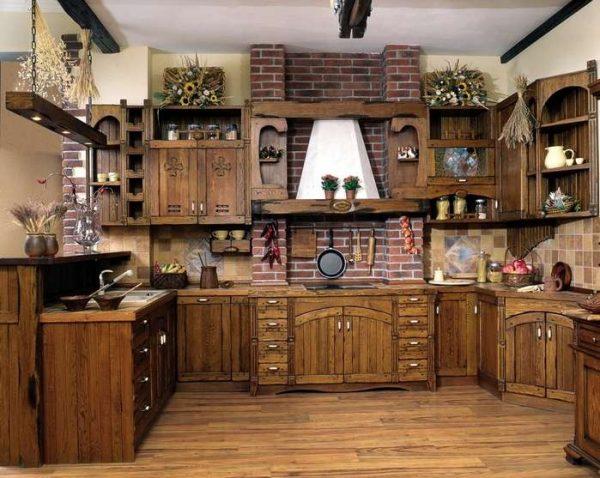 мебель на кухне в стиле кантри