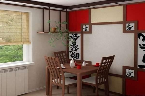 панно на кухне в японском стиле